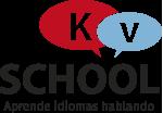 KV SCHOOL · Aprende inglés hablando. Logo
